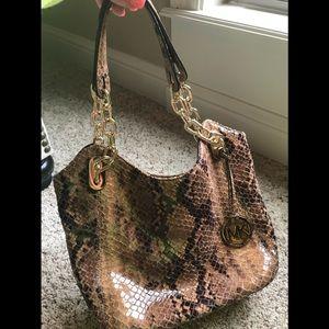 Michael Kors snakeskin purse 👜
